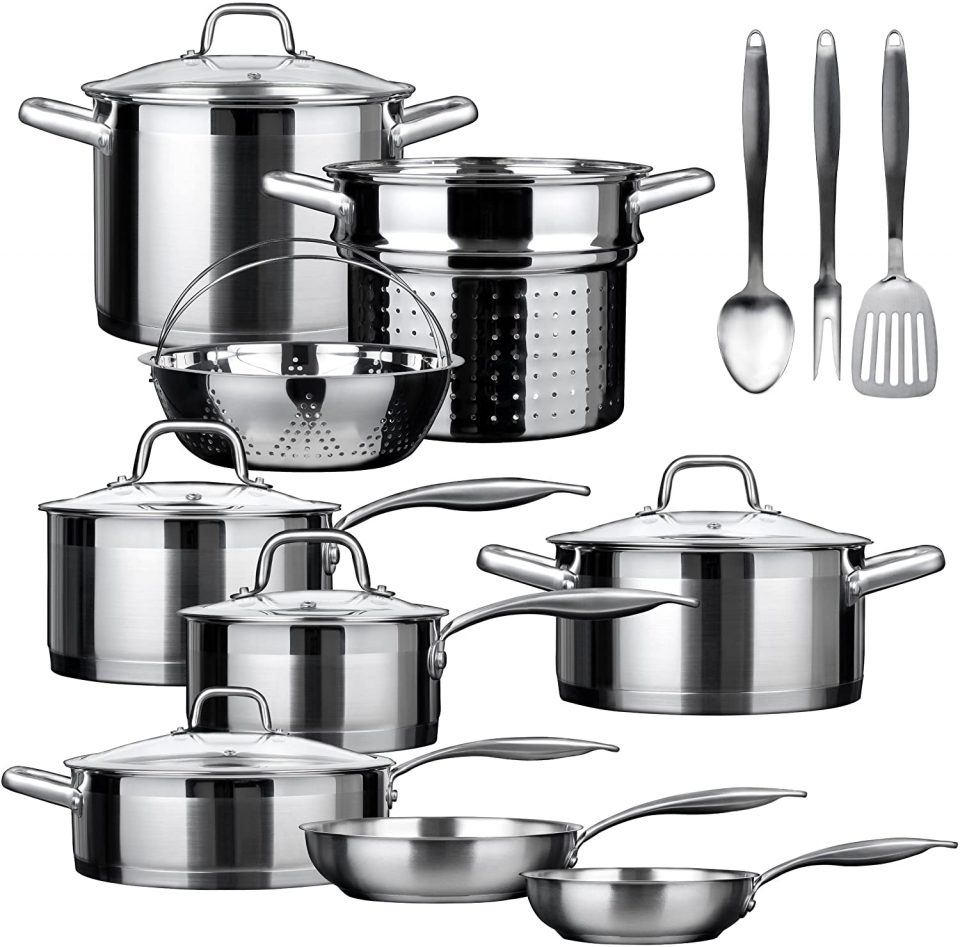 Duxtop SSIB-17 Professional 17 Pieces Stainless