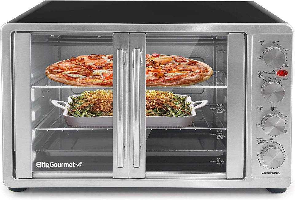 Elite Gourmet Double French Door Countertop Oven
