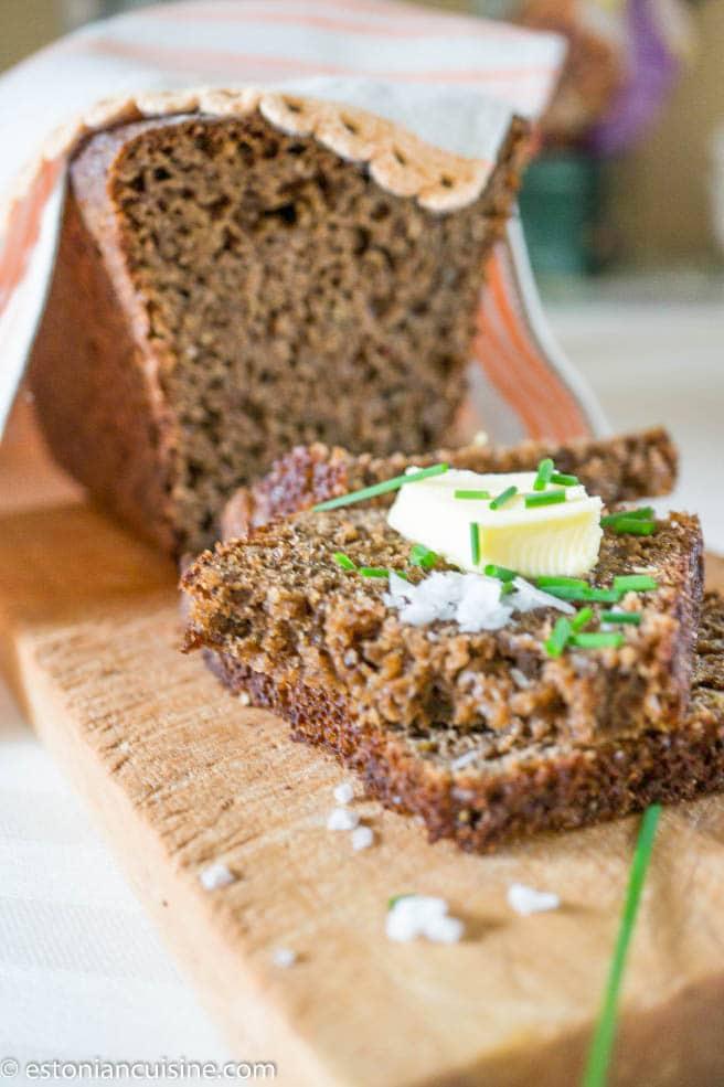 Estonian Black Bread. Leib