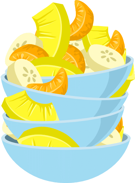 Exotic fruit salad clipart