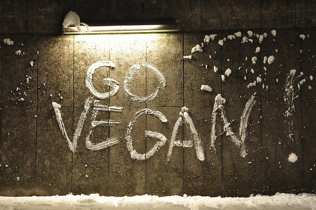 Go vegan sign