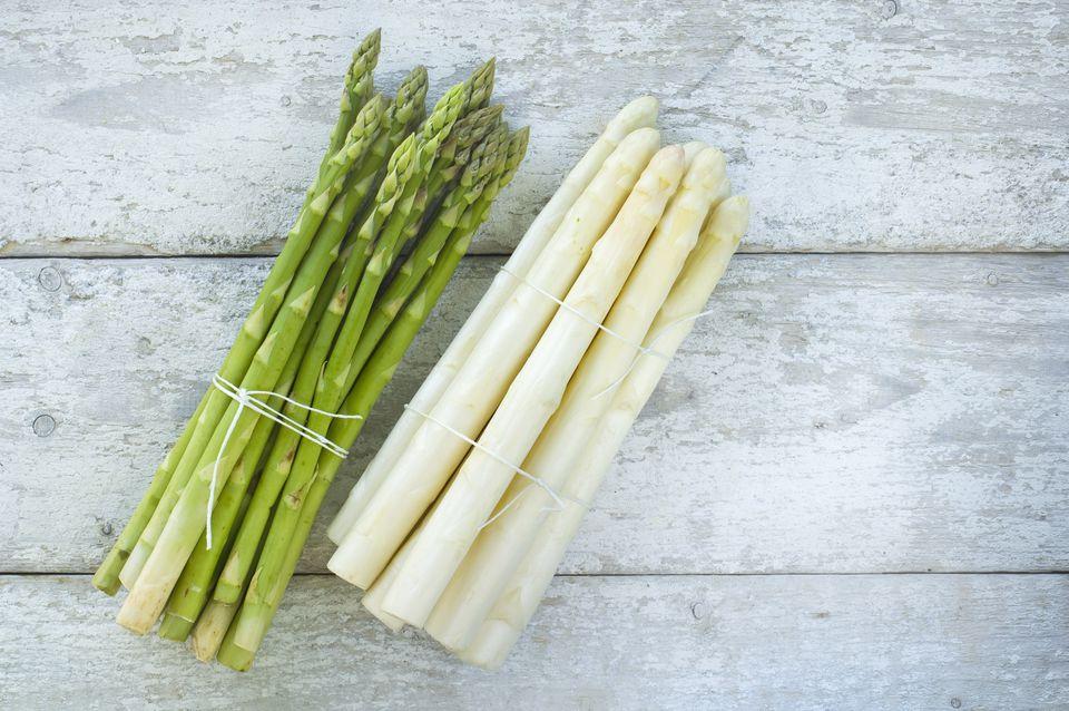 Green & White asparagus
