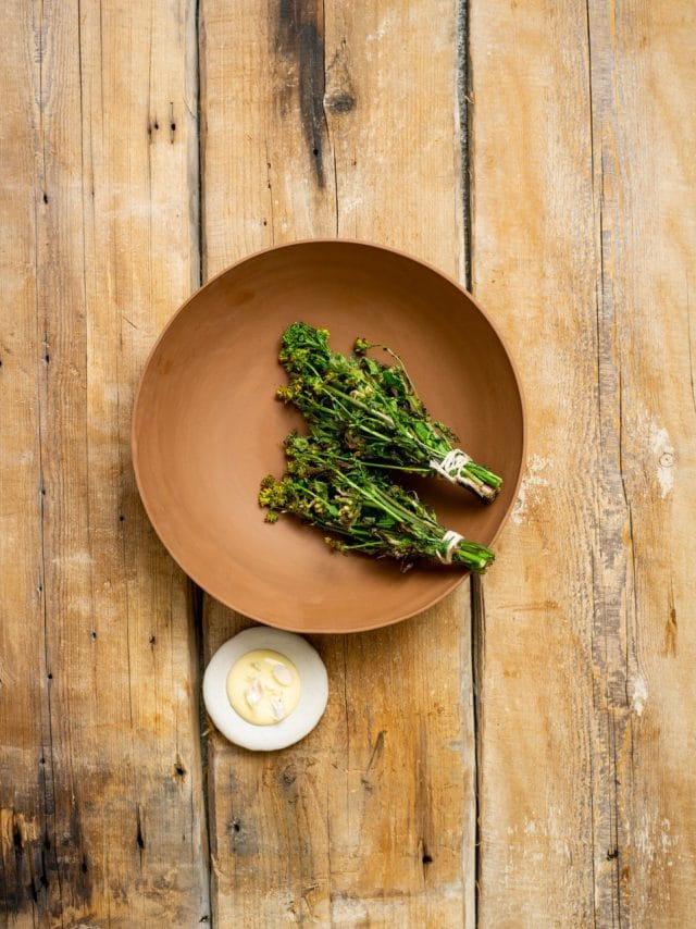 Springtime greens and aged cheese