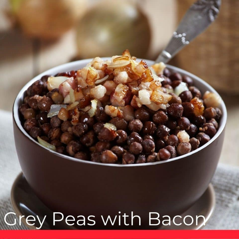 Gray Peas With Bacon