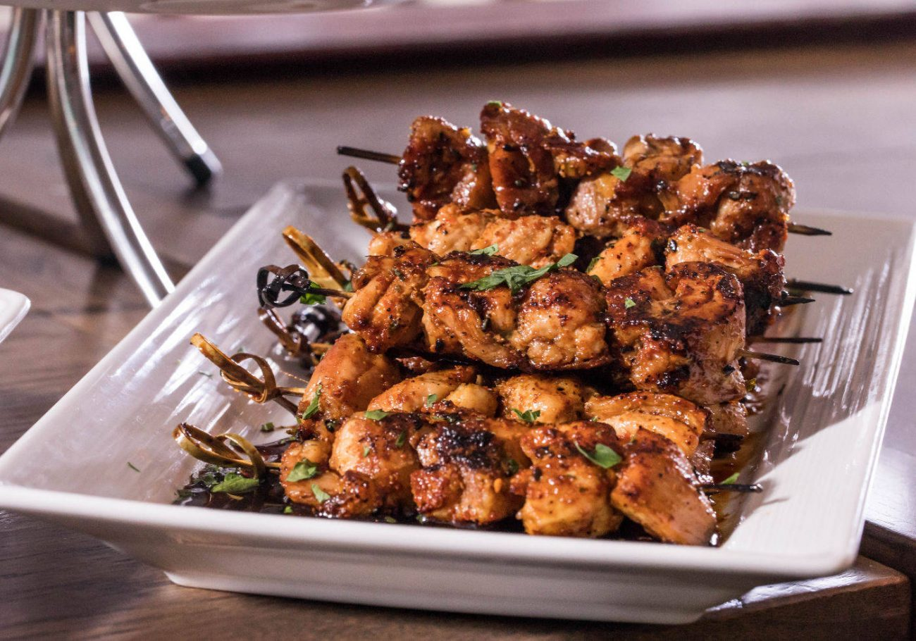 Grilled Chicken Thigh Skewers by Chef Rick Gresh