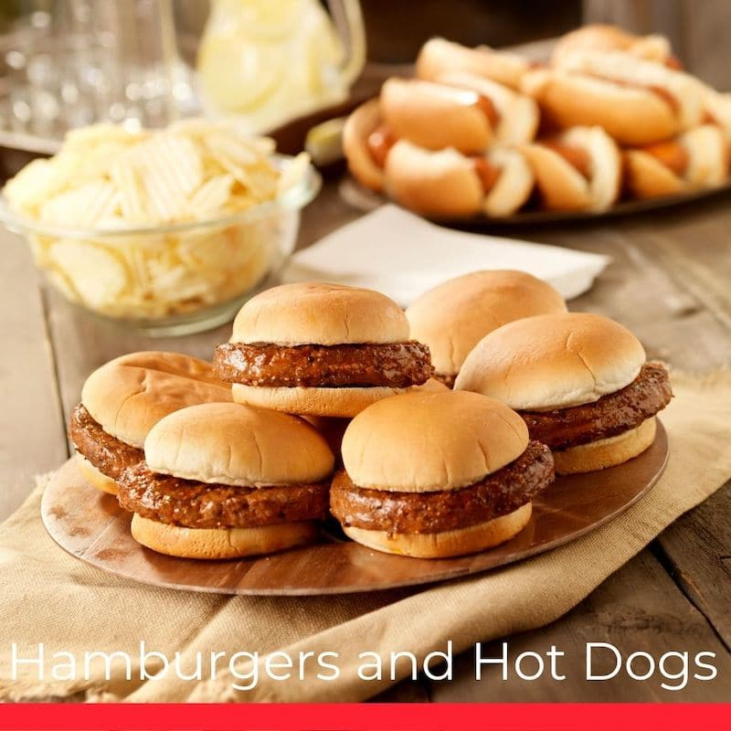 Hamburgers and Hot Dogs