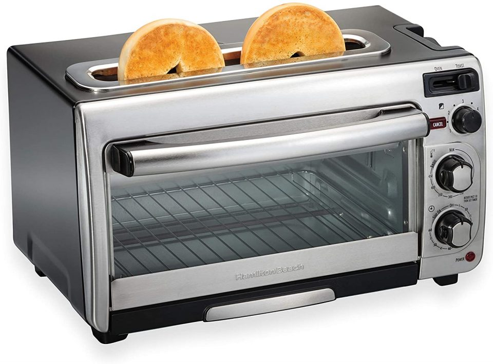 Hamilton Beach 2-in-1 Countertop Oven and Long Slot Toaster