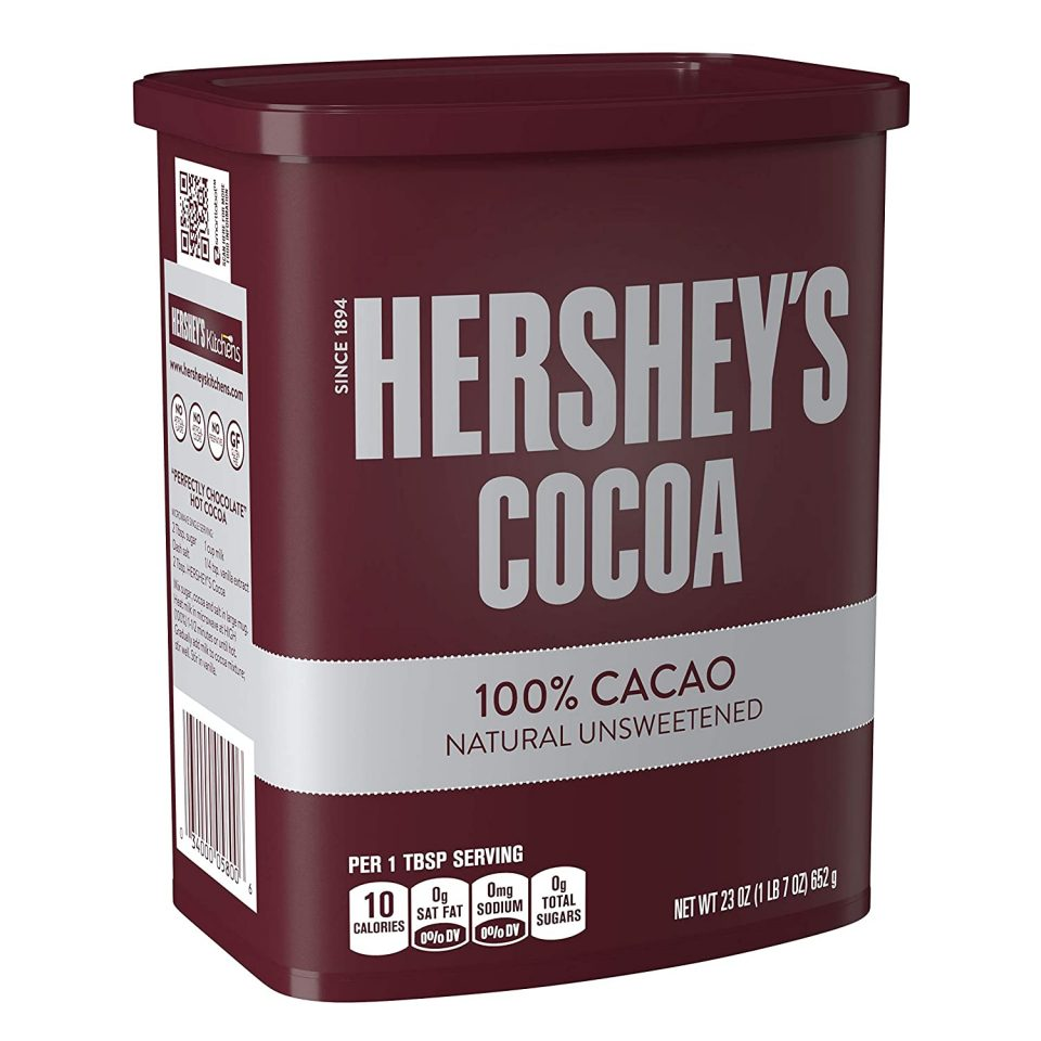 Hershey's Natural Unsweetened 100% Hot Cocoa, Baking