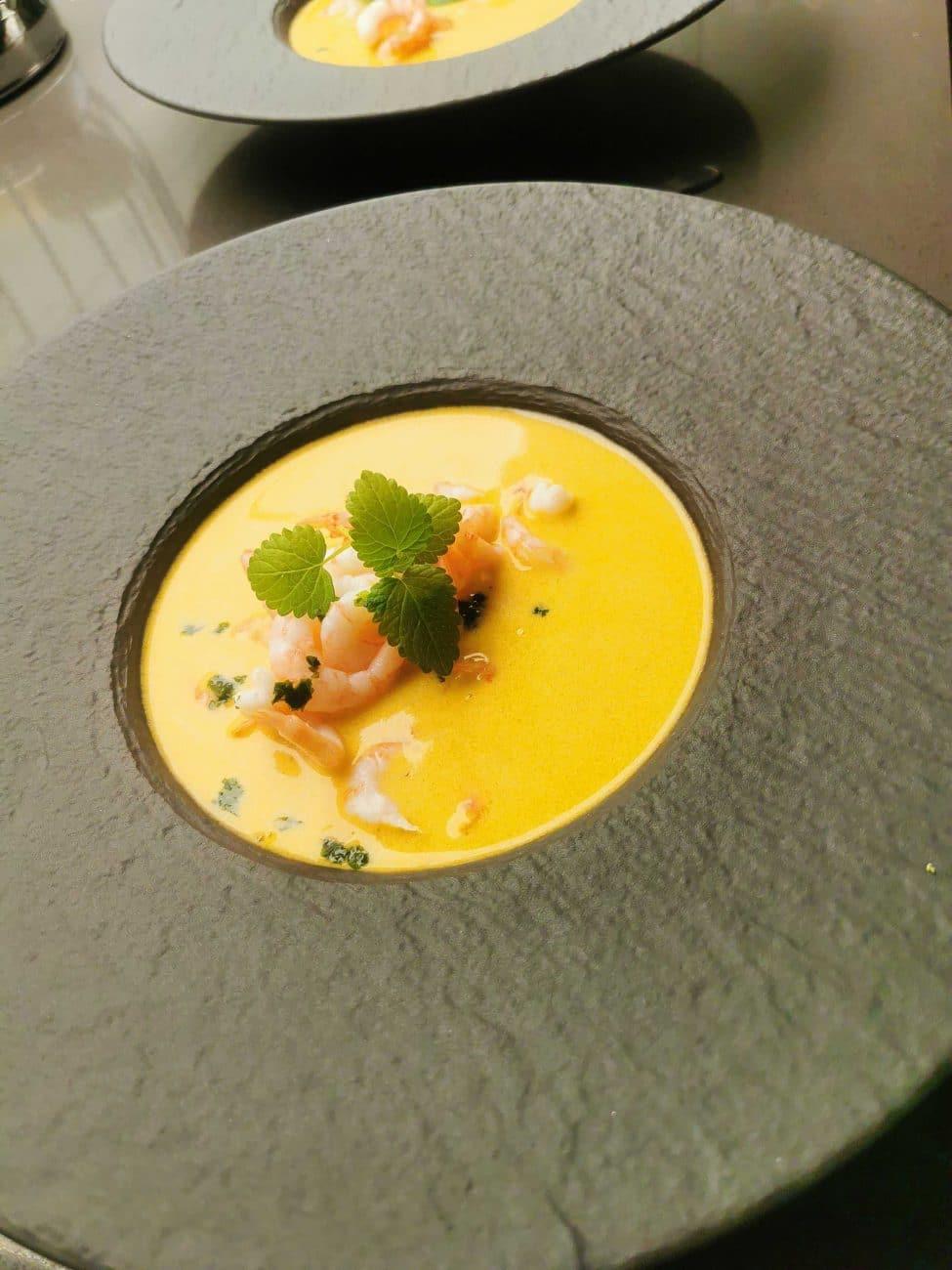 Classic Shrimp Soup with a Hint of Cognac