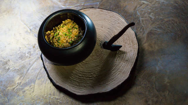 Kasha Iz Topora – Buckwheat Porridge with Penny Bun Mushrooms and Stewed Beef Cheeks
