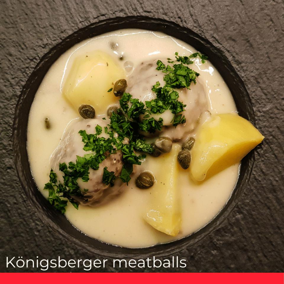 Königsberger meatballs.