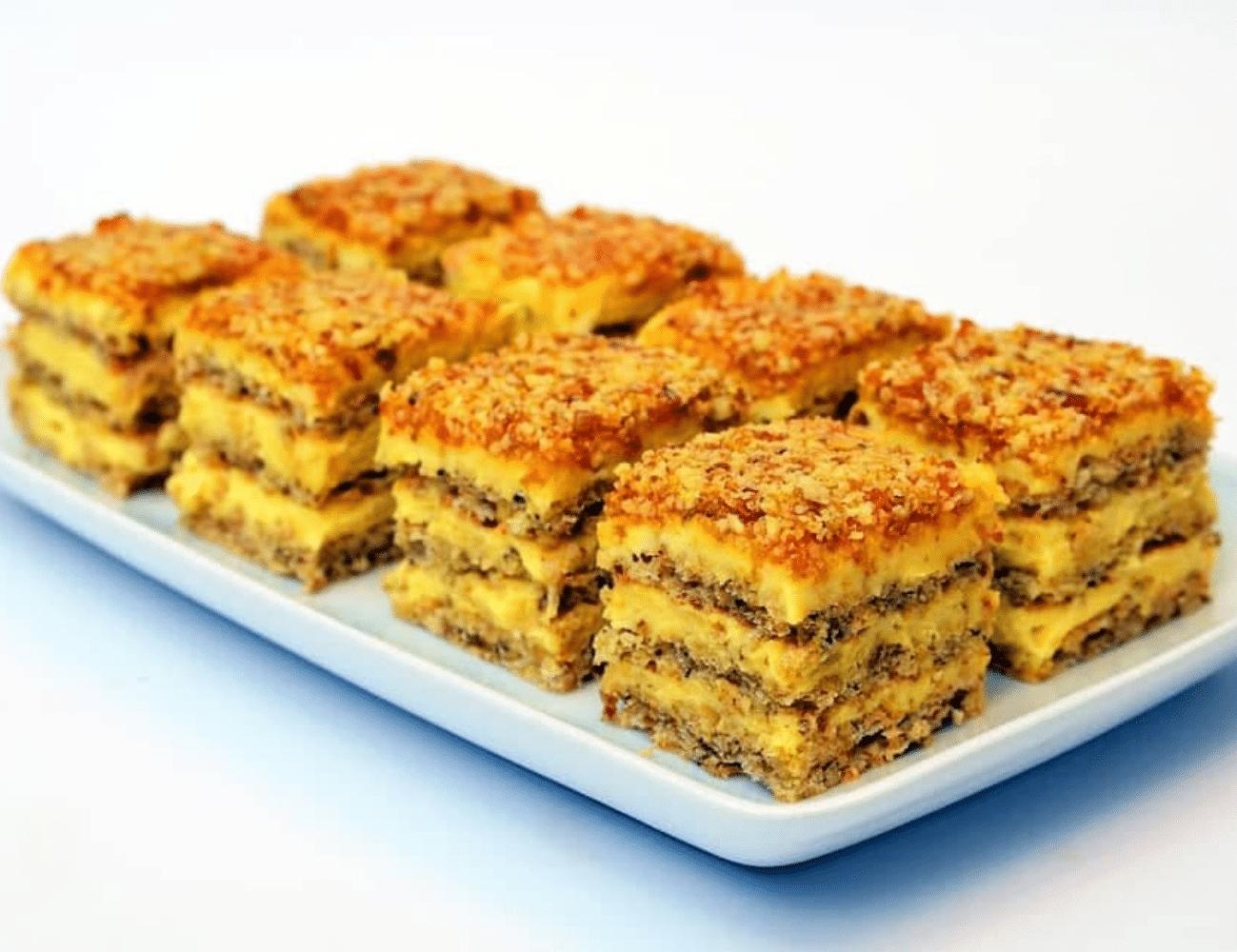 Crunchy Krantz Cake (Walnut Cake with Candied Walnuts)