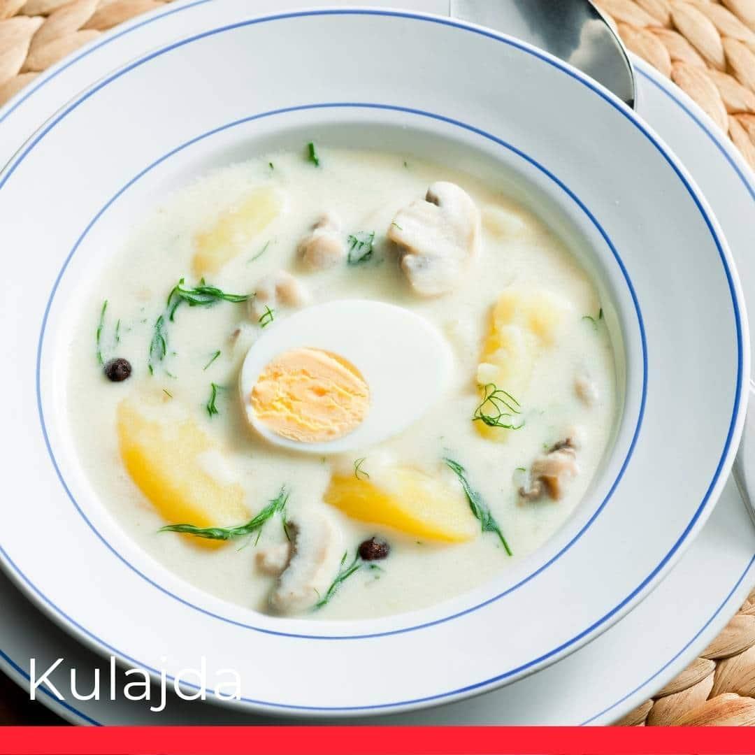 Kulajda (Mushroom, Potato, and Dill Soup)