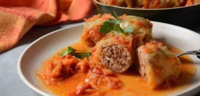 """Holubtsi """"Stuffed cabbage"""""""