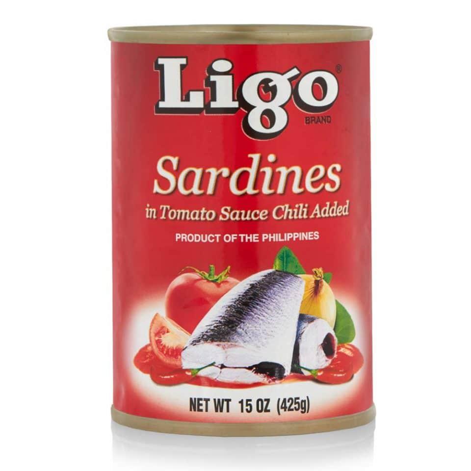Ligo Sardines in Tomato Sauce with Chili
