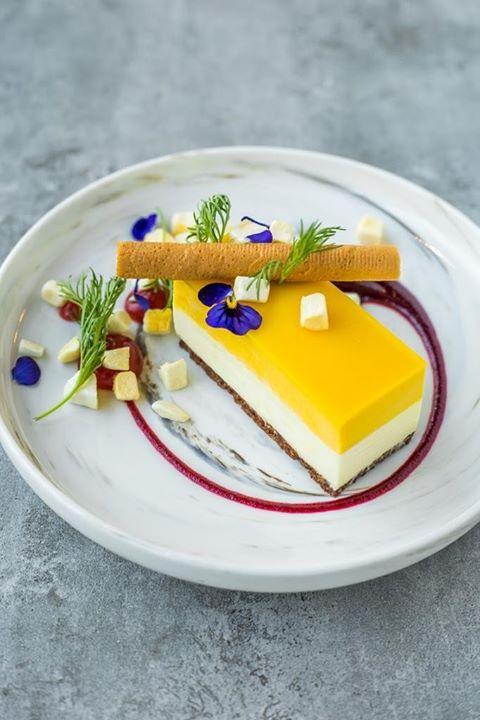 Mango and Chocolate Cheesecake