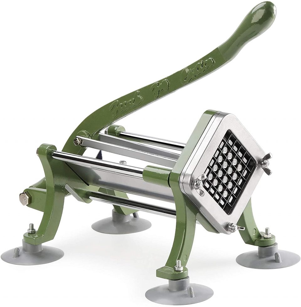 New Star Food Service 42313 Commercial Restaurant French Fry Cutter with Suction Feet