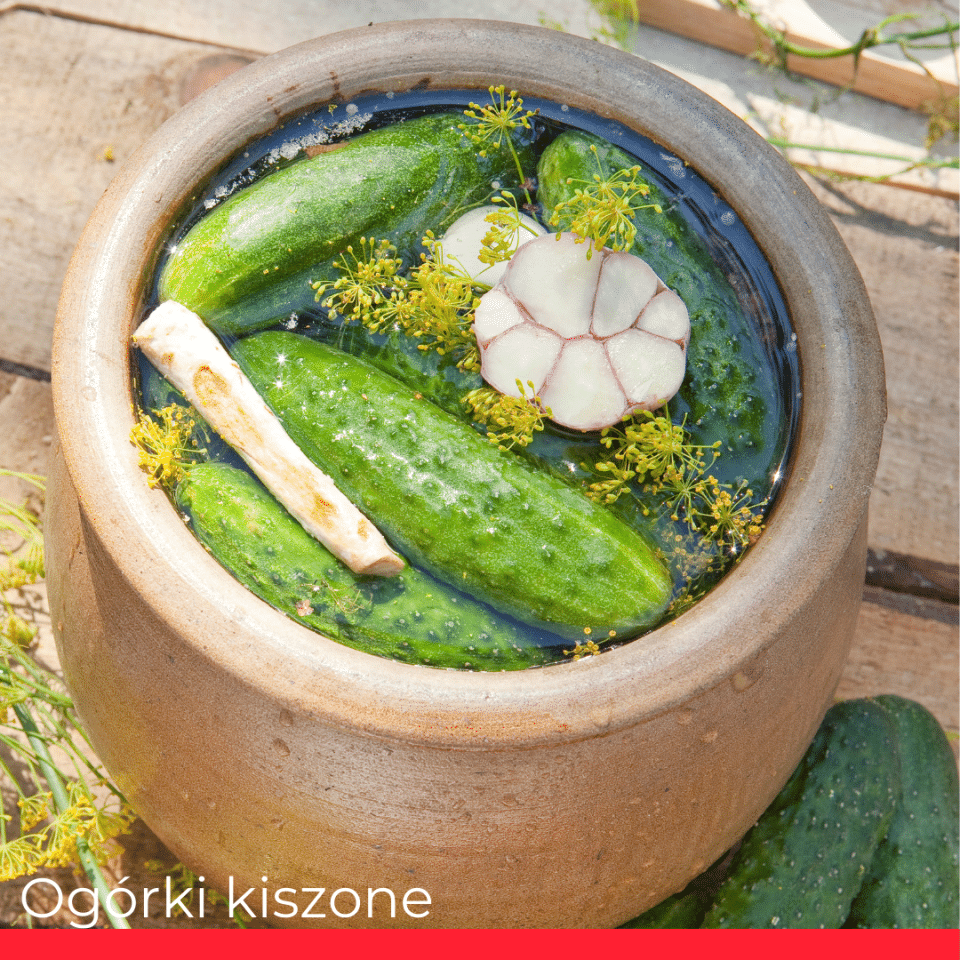 OGÓRKI KISZONE (pickled cucumber)