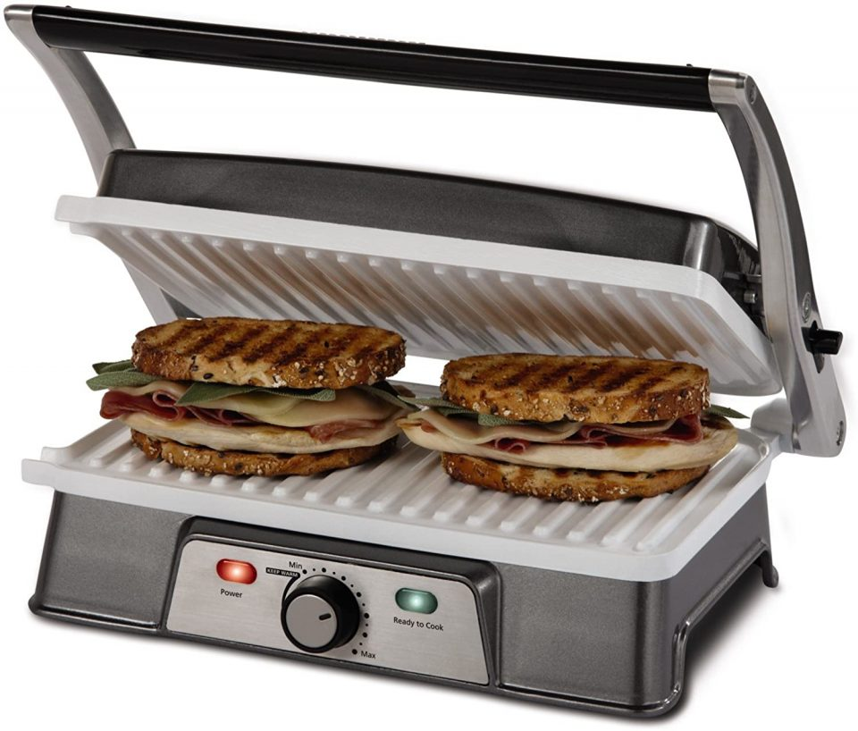 Oster DuraCeramic Infusion Series 2-in-1 Panini Maker and Grill