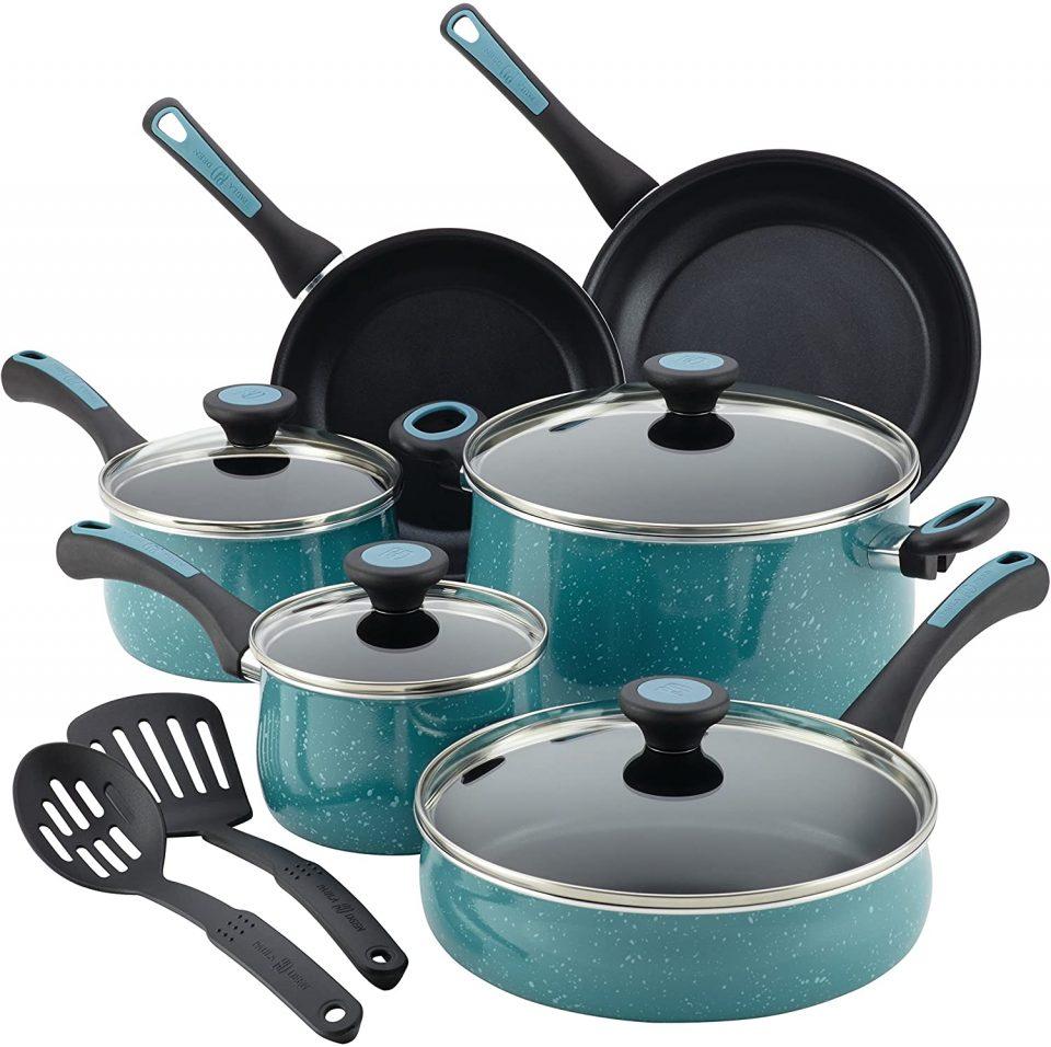 Paula Deen Riverbend Nonstick Cookware Pots and Pans Set
