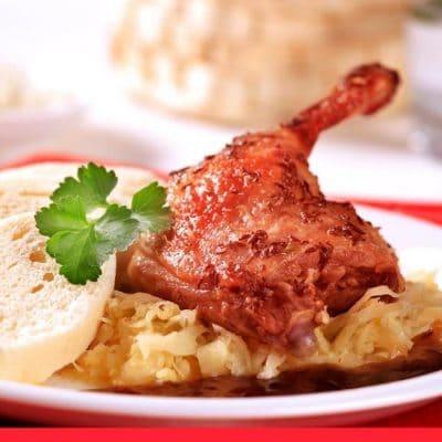 Pečená Kachna se Zelím (Roast Duck with Sauerkraut and Dumplings)