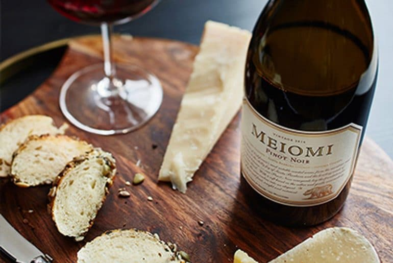 Pinot Noir with cheese