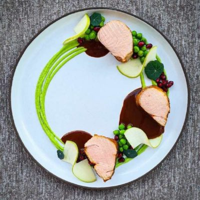 "Pork Tenderloin ""Sous Vide"" with Tradifresh ""Au Jus"" Sauce with Chocolate"
