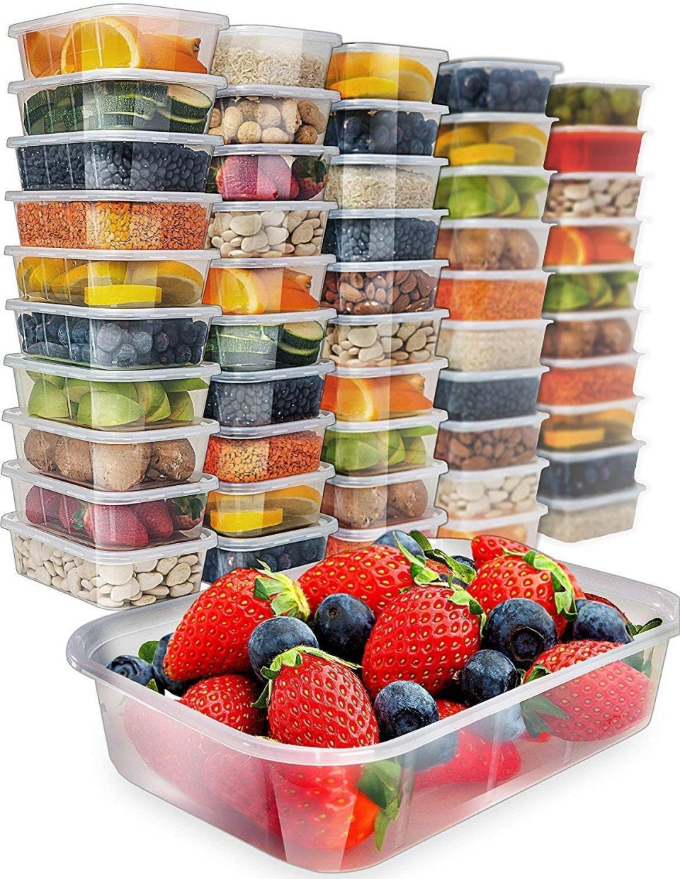 Prep Naturals Food Storage Containers with Lids