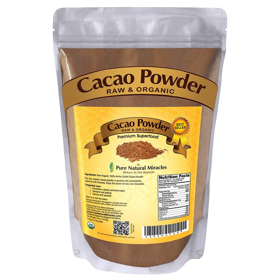 Pure Naturals Miracles Organic Raw Unsweetened Cocoa