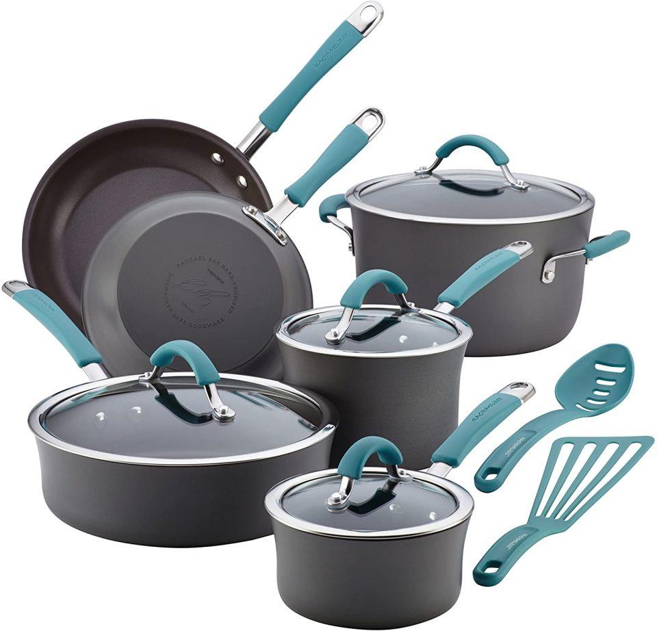Rachael Ray Cucina 87641 12-Piece Cookware Set