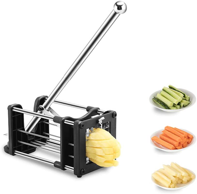 Reliatronic Stainless Steel Potato Chipper with Extended Handle