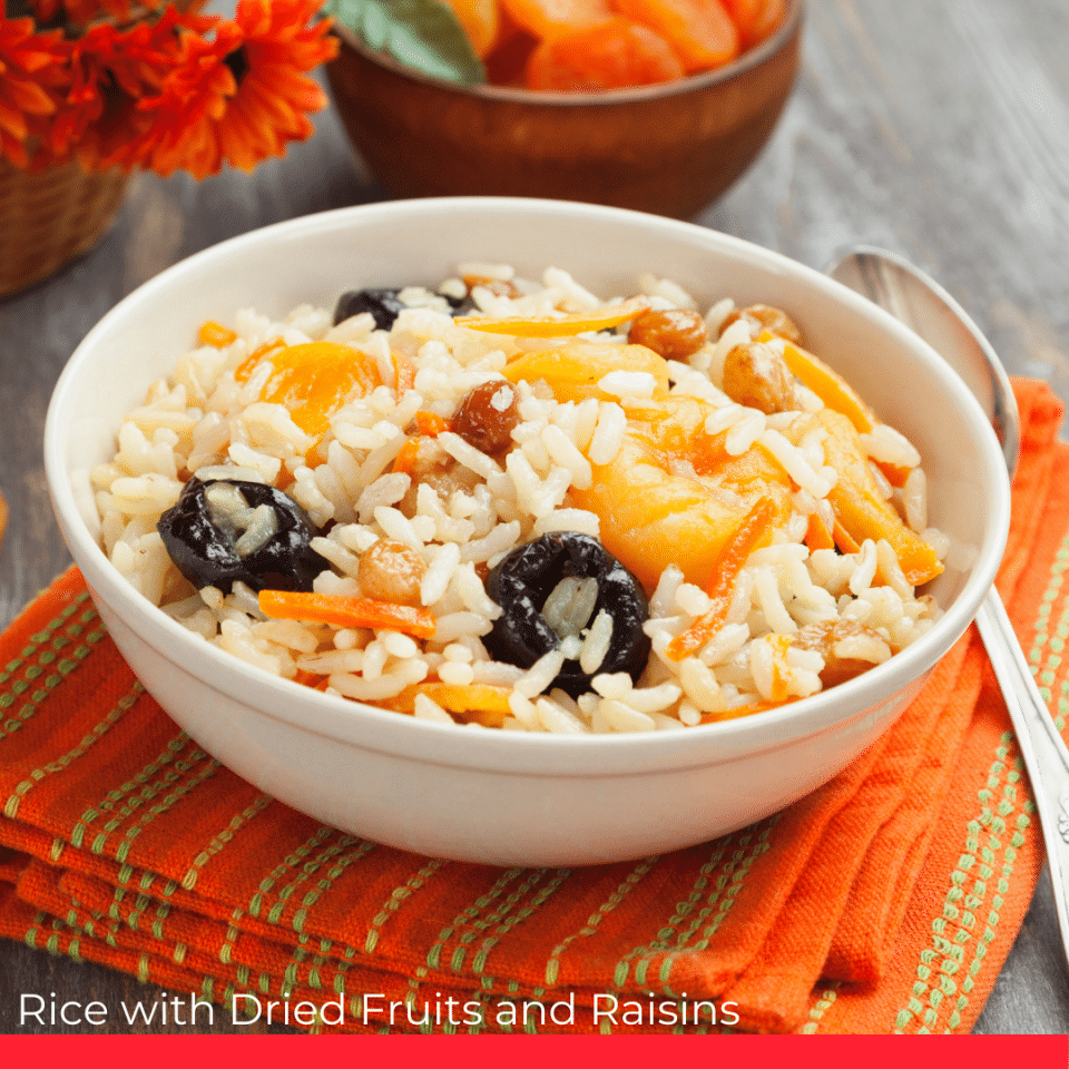 Rice with Dried Fruits and Raisins