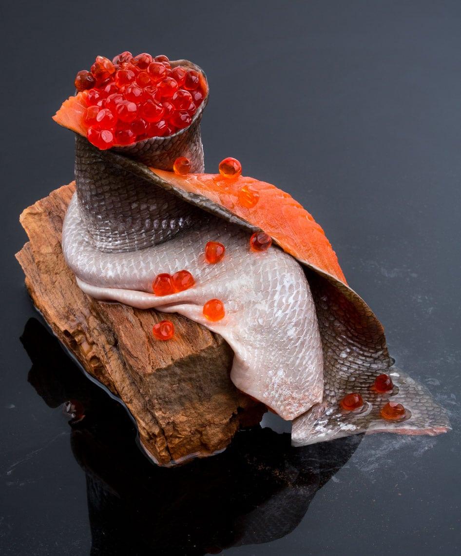 Salmon Skin Roe