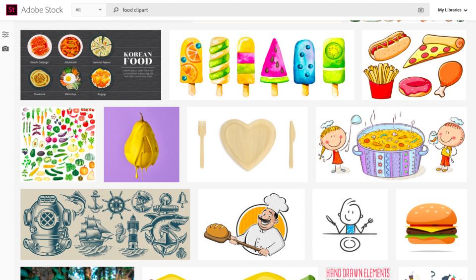 Screenshot of AdobeStock website