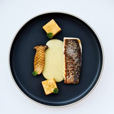 Sea Bream with Leek Cream