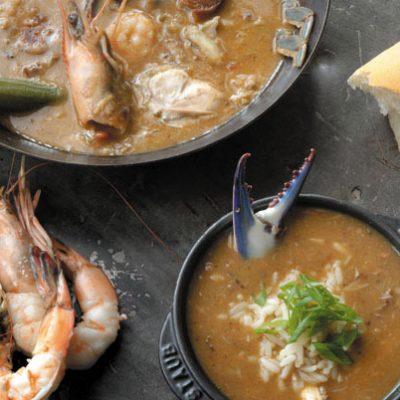 Seafood and Okra Gumbo with Alligator Sausage