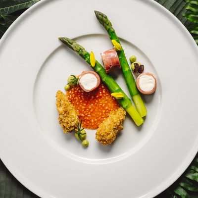 Serrano Cannelloni with Asparagus Mousse