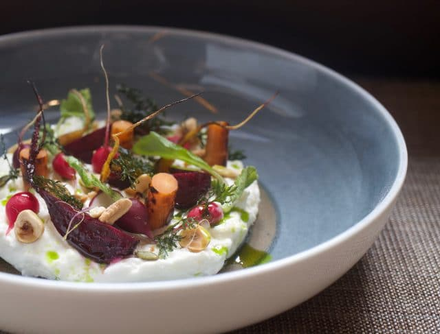 Stracciatella, Vegetables Roots and Nuts