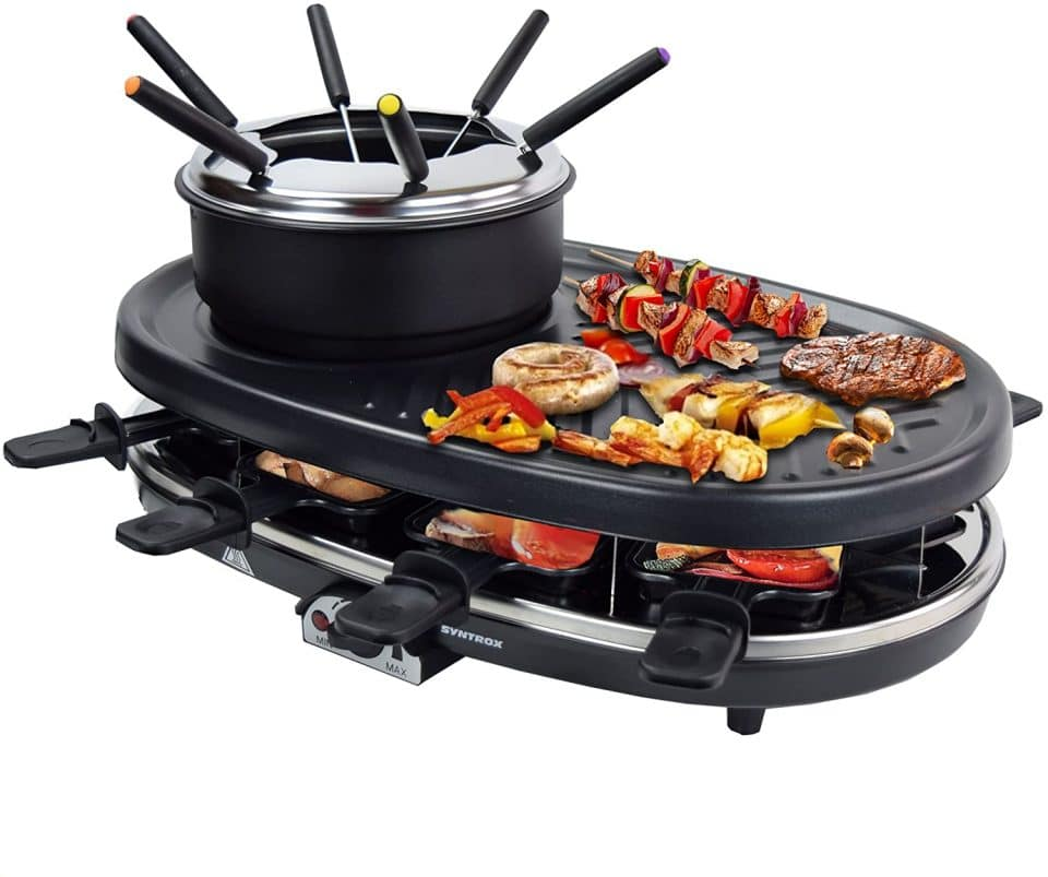 Syntrox Germany 3 in 1 Raclette-Grill-Fondue Appenzell