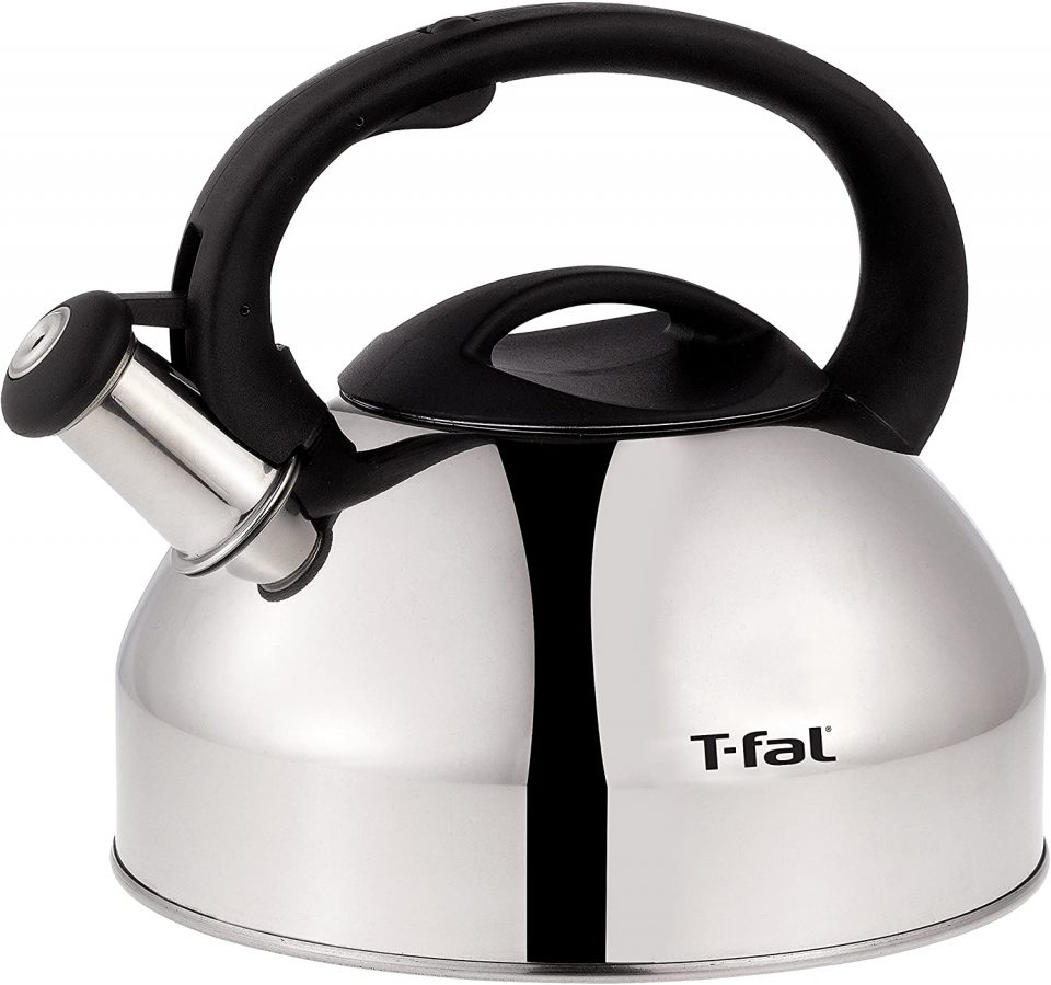T-fal C76220 Specialty Stainless Steel Dishwasher Safe Whistling Coffee and Tea Kettle;