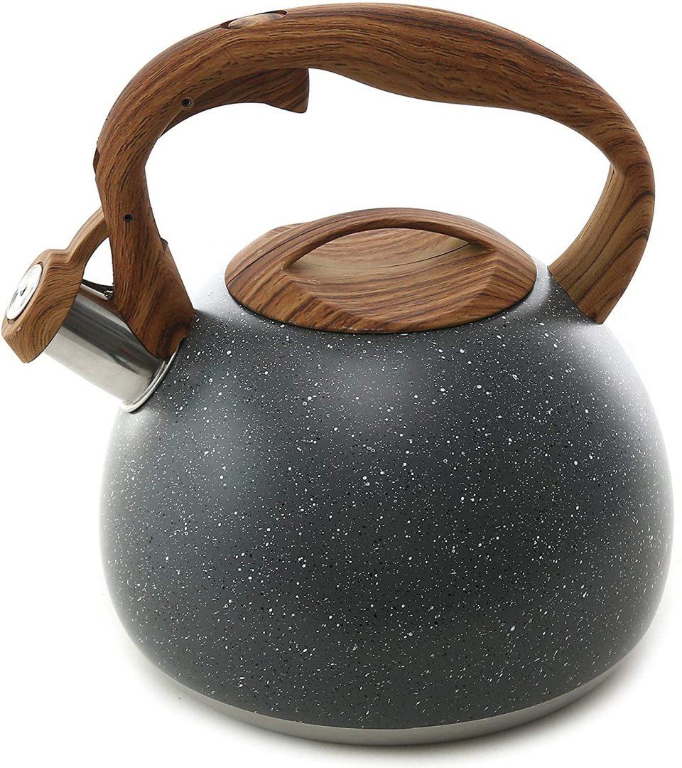 Tea Kettle, 2.7 Quart BELANKO Teapot for Stovetops Wood;