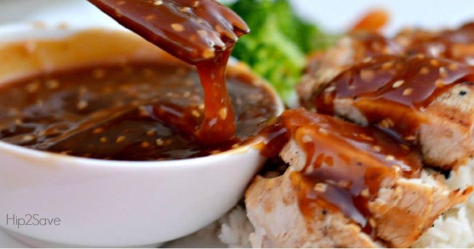 Teriyaki Sauce on meat