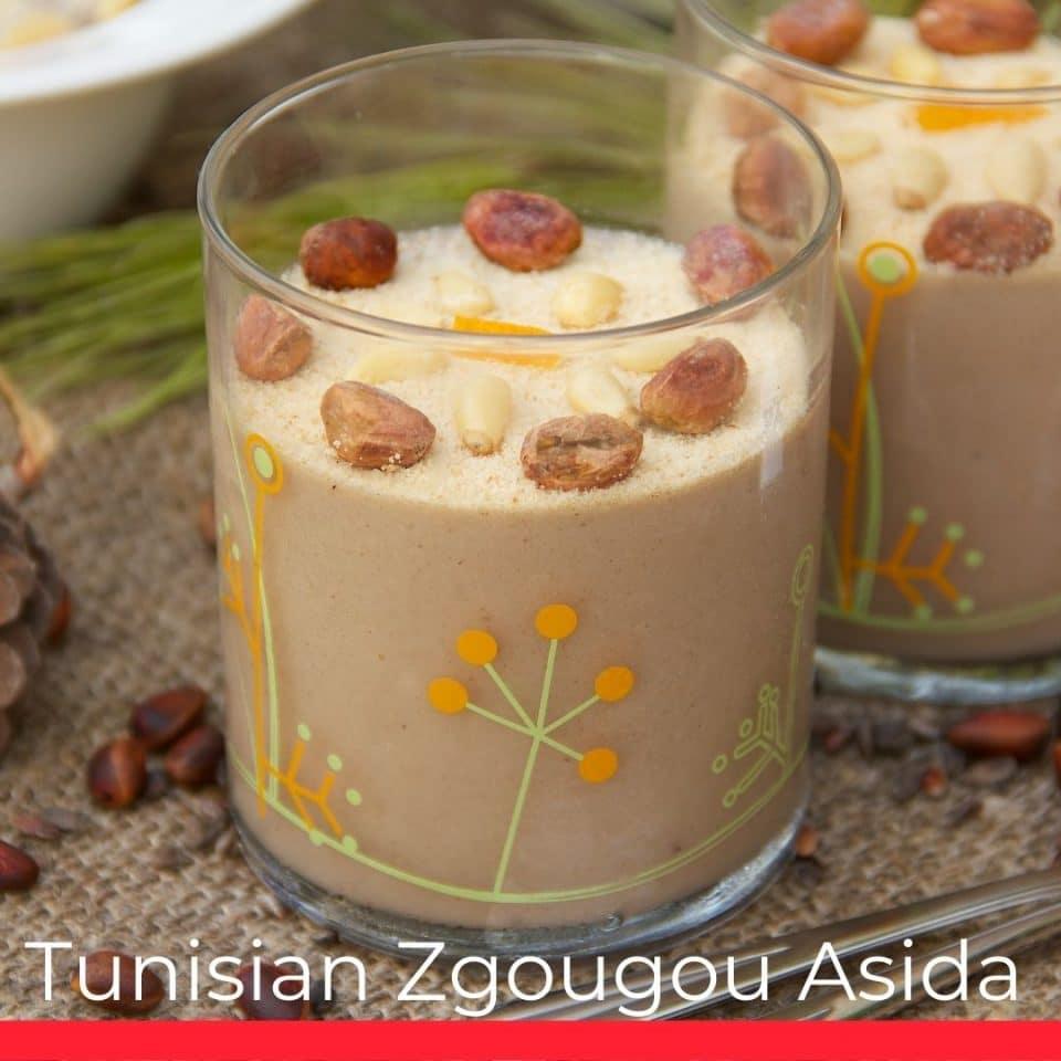 Tunisian Zgougou Asida