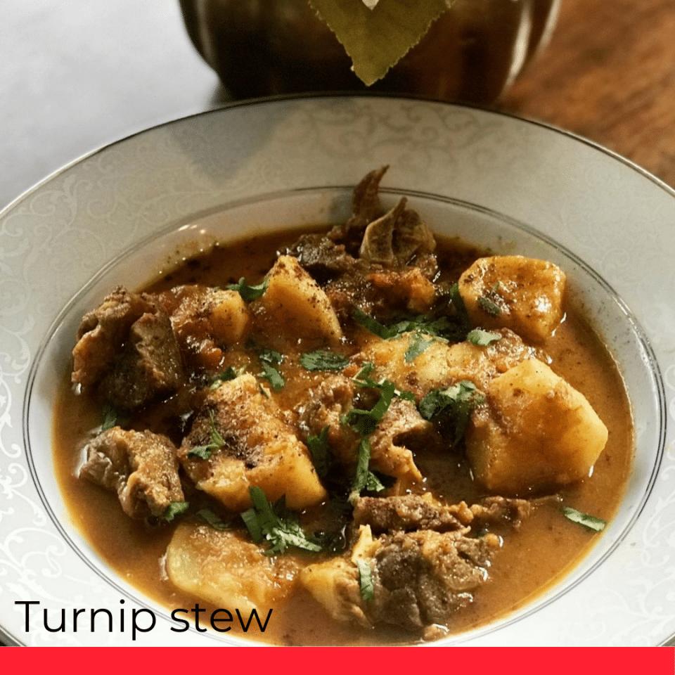 Turnip stew.