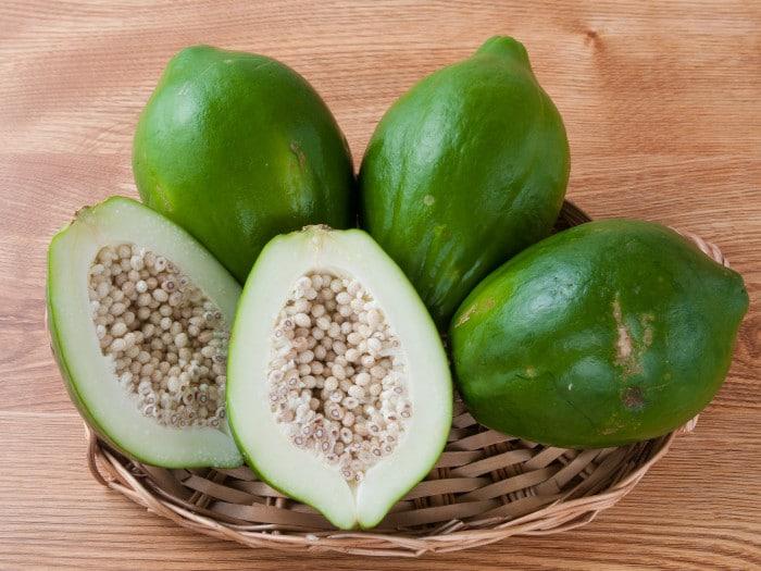 Green Unripe papaya
