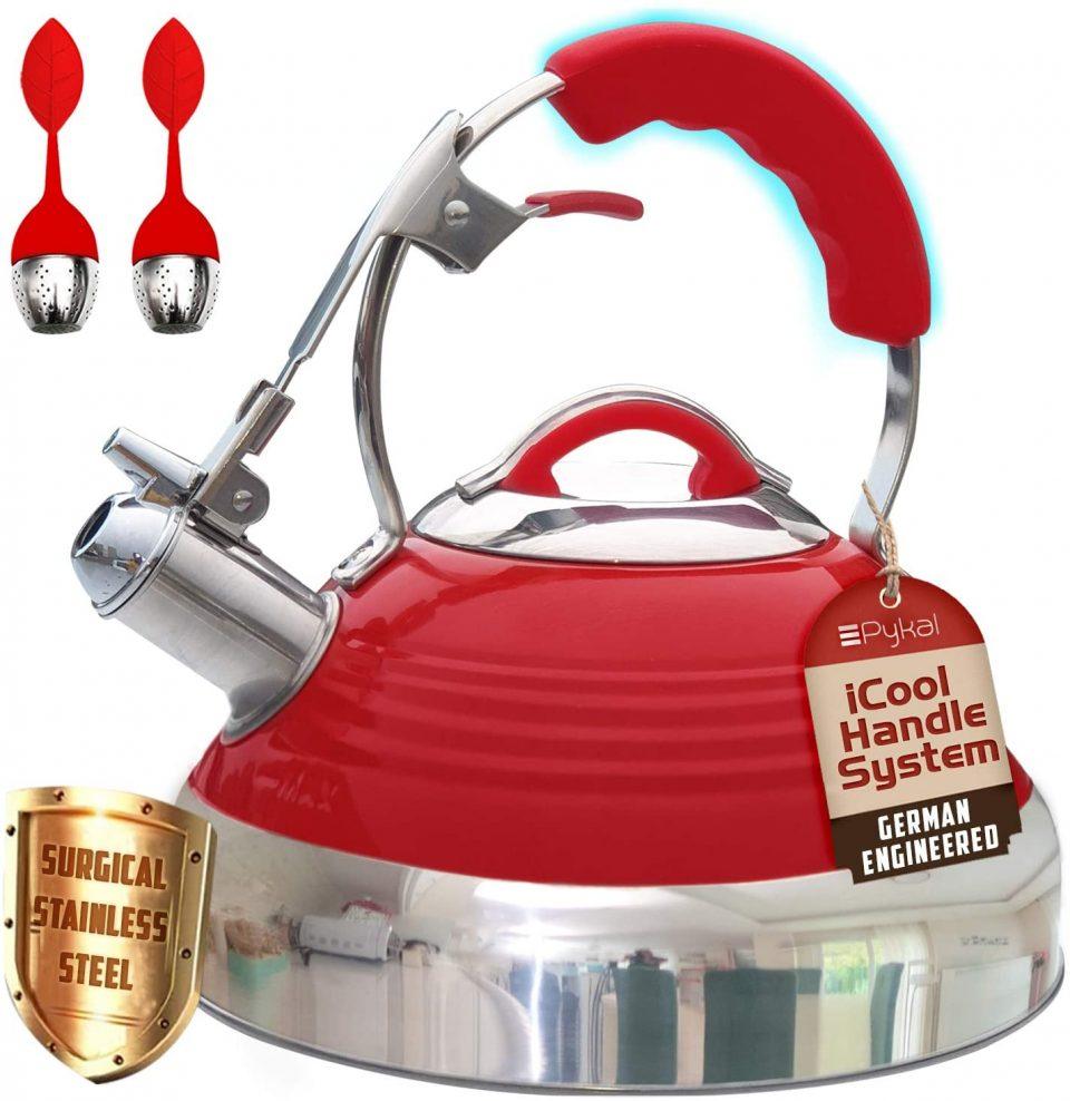 Whistling Tea Kettle Red Hotness;