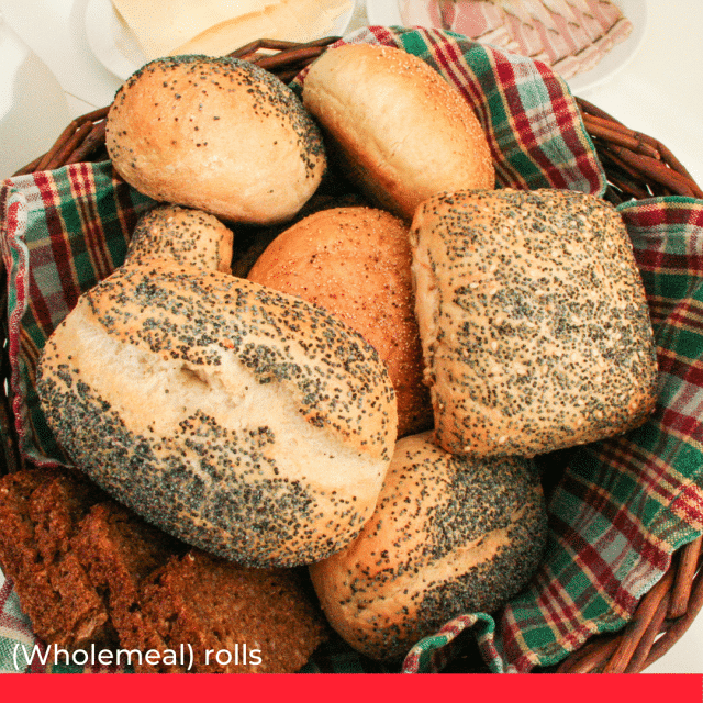 (Wholemeal) rolls from all regions of Germany.