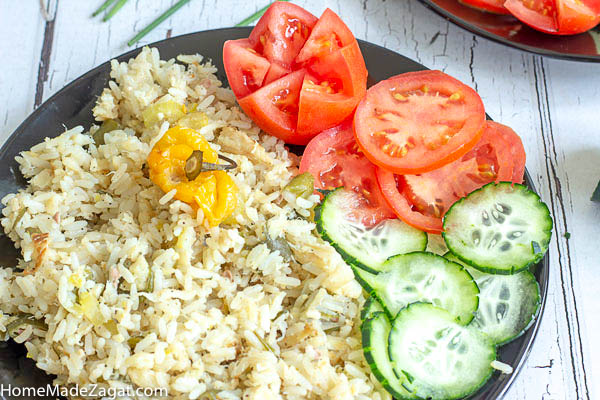 Yellow Split Pea Rice & Salt Fish Gravy
