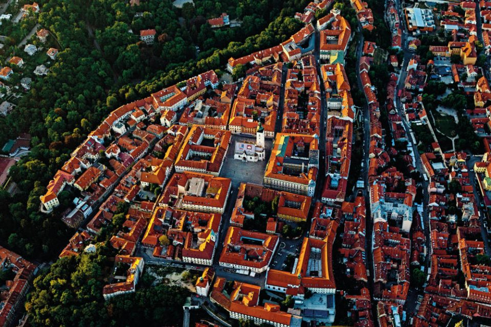 Zagreb Old Town From Above
