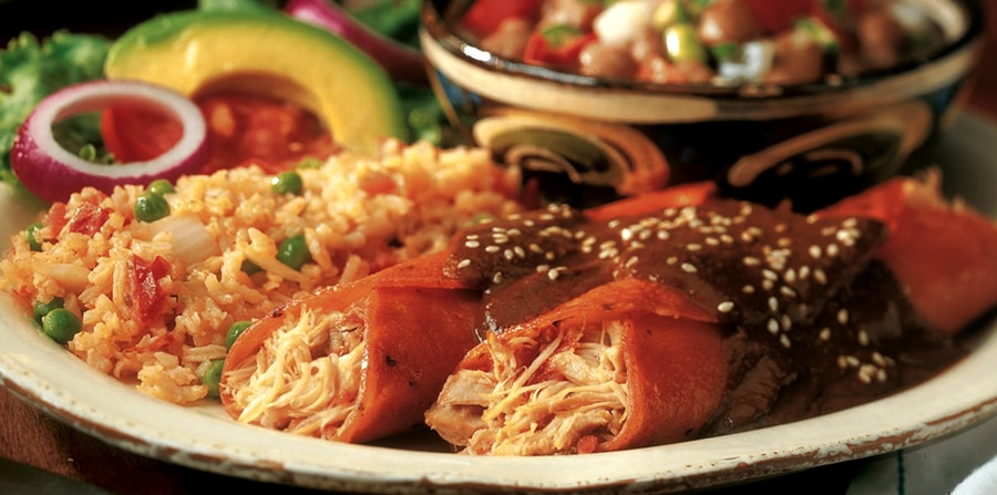 close up of a plate with Tex-Mex food